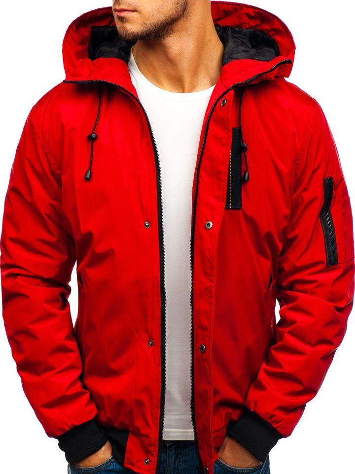 Чоловіча спортивна куртка демісезонна червона Bolf RZ03 ЧЕРВОНИЙ df6e822f2633f