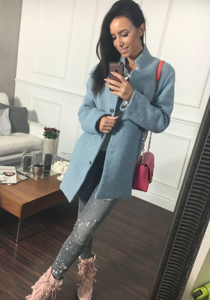 Жіноча пальто блакитне Bolf 1950 БЛАКИТНИЙ 68a74acbf3be8