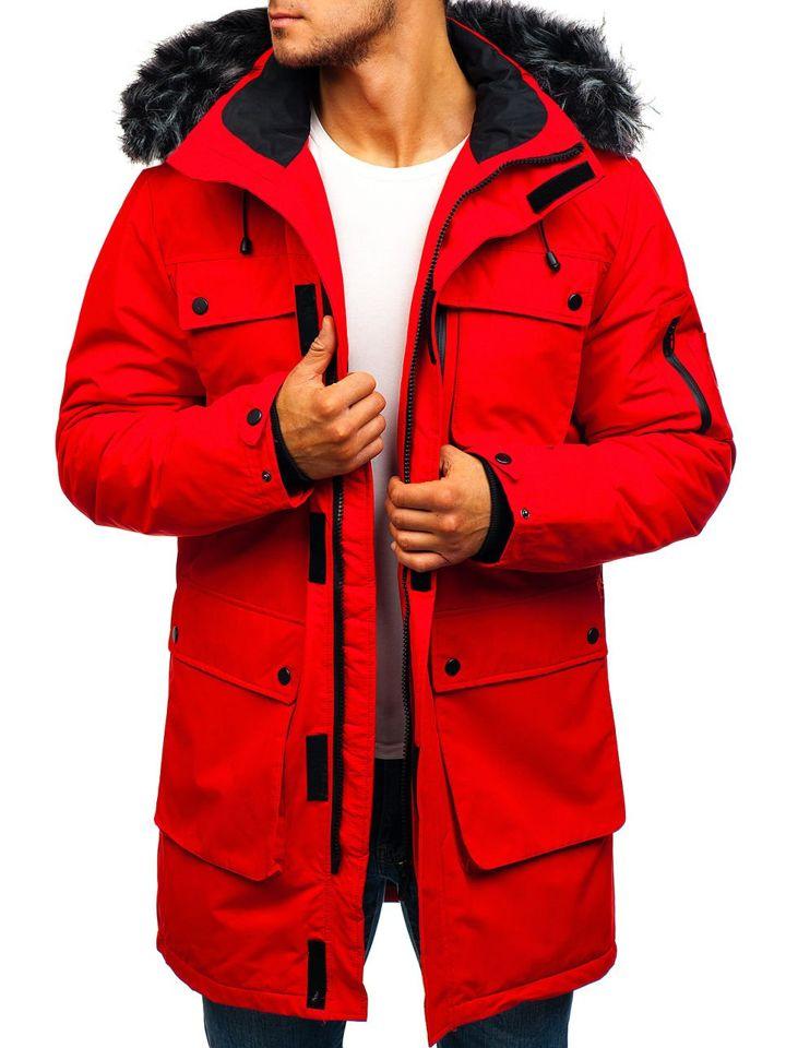 Чоловіча зимова куртка парка червона Bolf 201803 ЧЕРВОНИЙ 249dabb4e17e1