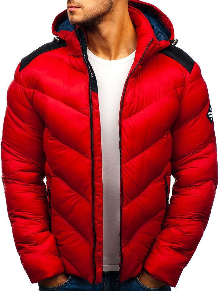 Мужская зимняя спортивная куртка красная Bolf AB100 КРАСНЫЙ a80d322229e