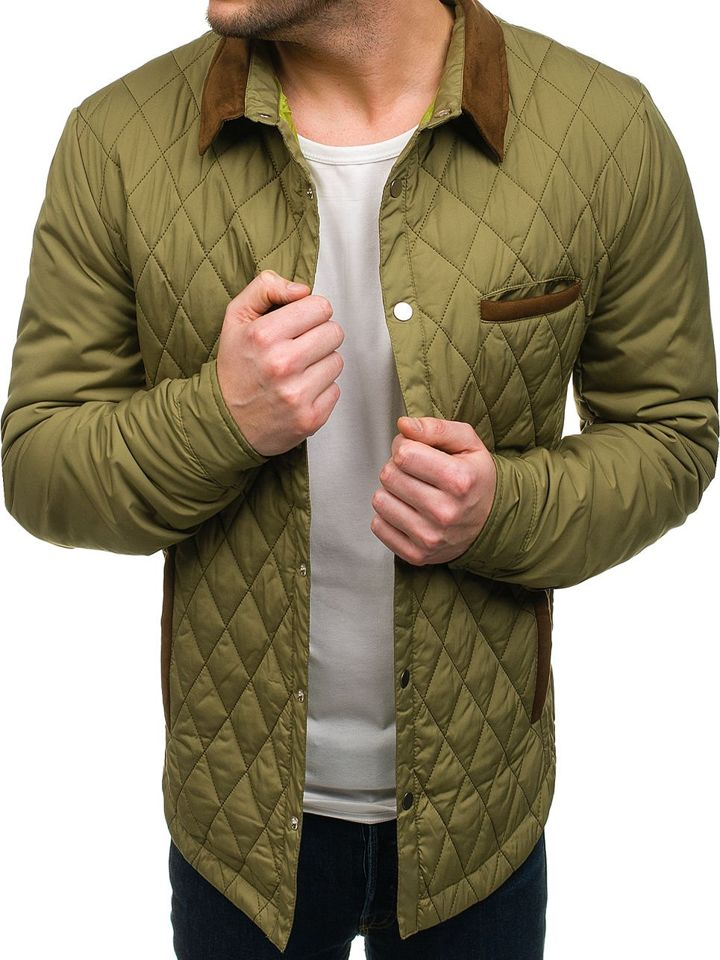 Зеленая куртка мужская демисезонная Bolf 5004 ЗЕЛЕНЫЙ 7a2ab199473