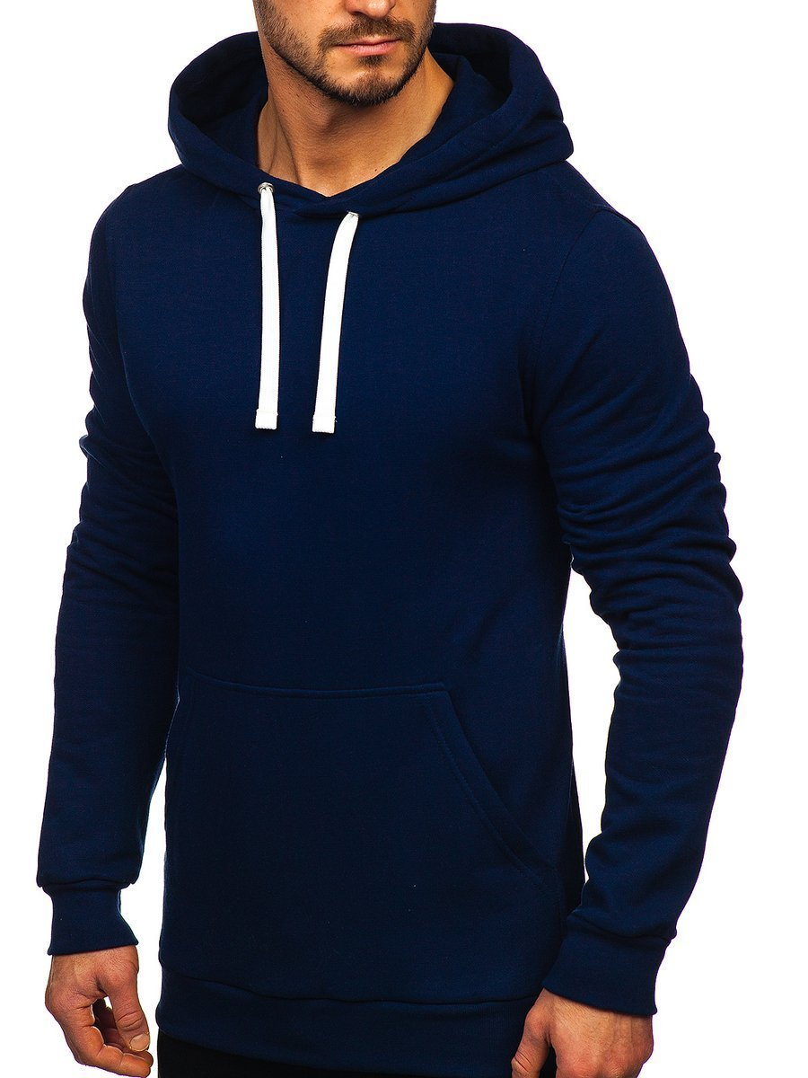 7fab88949089 Мужская толстовка с капюшоном темно-синяя Bolf 02 ТЕМНО-СИНИЙ