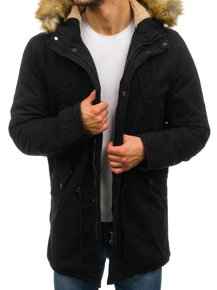 Чоловіча зимова куртка парка чорна Bolf YL001 ЧОРНИЙ 5942224d6ab8a