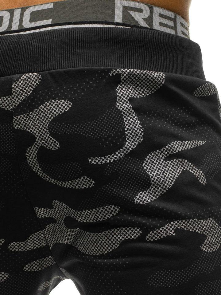 Чоловічі трикотажні штани джогери камуфляж-чорні Bolf ML222 ЧОРНИЙ 62fc24fd7d815