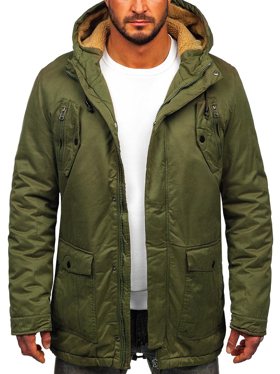Чоловіча зимова куртка парка зелена Bolf 1794 ЗЕЛЕНИЙ 9bb7facbdba37