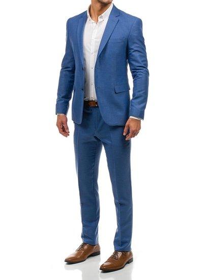 Мужской костюм светло-синий Bolf 1000