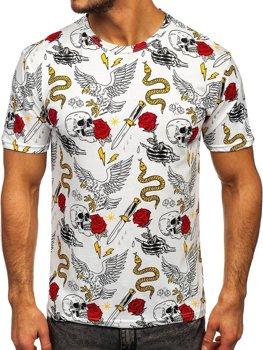 Белая мужская футболка с принтом Bolf 14900