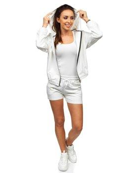 Белый женский спортивный комплект Bolf 2062