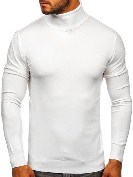 Белый мужской свитер гольф Bolf YY02