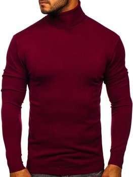 Бордовый мужской свитер гольф Bolf YY02