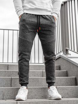 Брюки мужские спортивные джоггеры черно-оранжевые Bolf Q3770