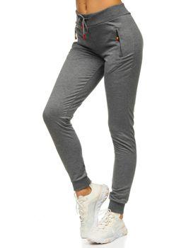 Графитовые женские спортивные брюки Bolf 1