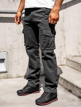 Графитовые мужские брюки-карго с поясом Bolf 1672