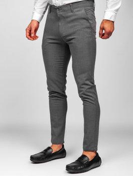 Графитовые мужские брюки чиносы Bolf 0016