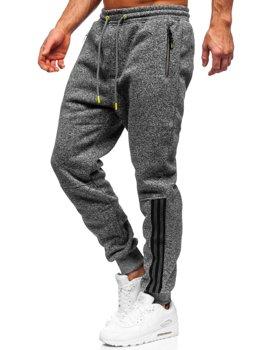 Графитовые мужские спортивные брюки BOLF TC937