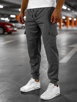 Графитовые мужские спортивные брюки Bolf JX326