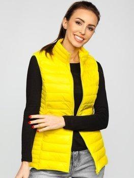 Желтый стеганый женский жилет Bolf 23038