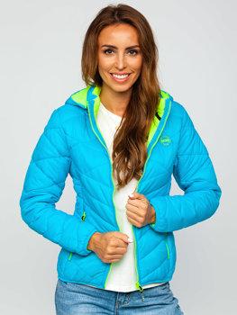 Женская бирюзовая зимняя куртка BOLF AB027