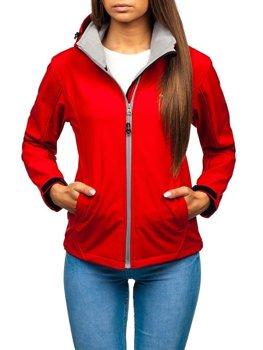 Женская демисезонная куртка софтшелл красная Bolf AB056