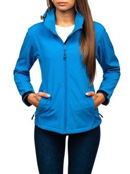 Женская демисезонная куртка софтшелл синяя Bolf AB056