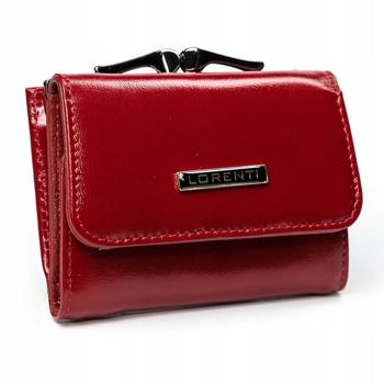 Женский кожаный кошелек красный 2908