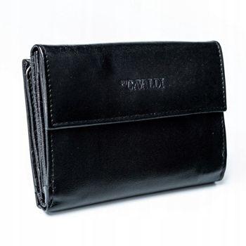 Женский кожаный кошелек черный 2779