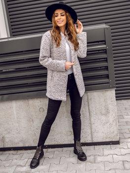 Женское пальто экрю Bolf 6011-1