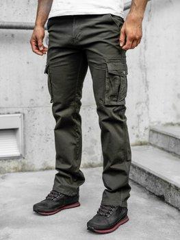 Зеленые мужские брюки-карго с поясом Bolf 1672