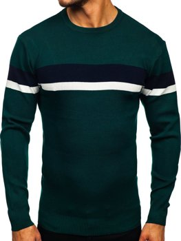 Зеленый мужской свитер Bolf H2072