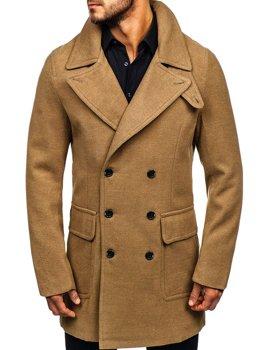 Зимнее мужское пальто кэмел Bolf 1048