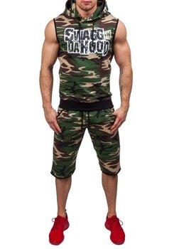 Камуфляж-зеленый мужской спортивный костюм Bolf 0478-1