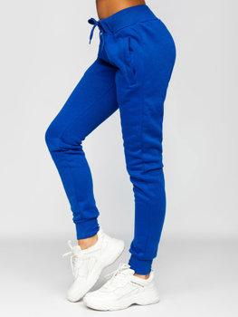 Кобальтовые женские спортивные брюки Bolf CK-01