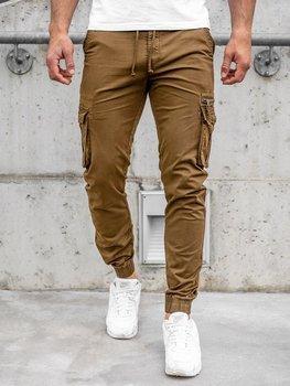 Коричневые мужские брюки джоггеры-карго Bolf CT6702