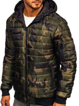 Куртка демисезонная мужская спортивная камуфляж-хаки Bolf MY13M