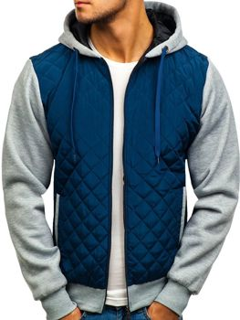 Куртка демисезонная CADDIIN A91 темно-синяя