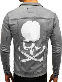 Куртка джинсовая мужская серая Bolf 2052