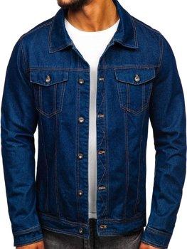 Куртка джинсовая мужская темно-синяя Bolf 1110