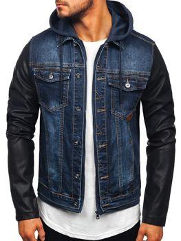 Куртка джинсовая мужская темно-синяя Bolf AK530