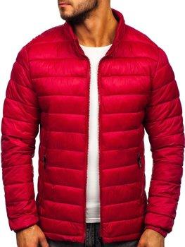 Куртка мужская демисезоная стеганая бордовая Bolf 1119