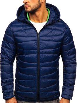 Куртка мужская демисезоная стеганая темно-синяя Bolf 1139