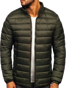 Куртка мужская демисезоная стеганая хаки Bolf 1119