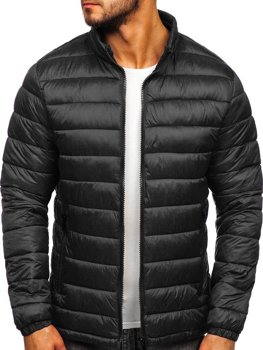 Куртка мужская демисезоная стеганая черная Bolf 1119