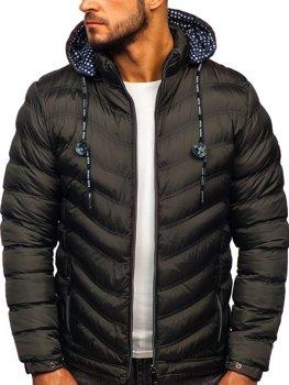 Куртка мужская демисезонная спортивная стеганая хаки Bolf 50A255