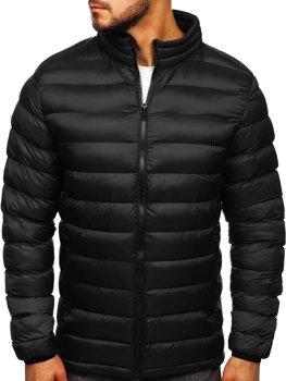 Куртка мужская демисезонная спортивная стеганая черная Bolf 1111-1