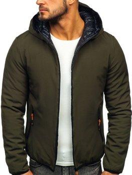 Куртка мужская зимняя зеленая Bolf R1271