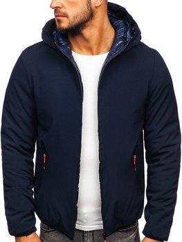 Куртка мужская зимняя куртка темно-синяя Bolf R1271