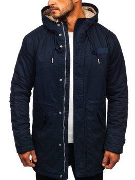 Куртка мужская зимняя парка темно-синяя Bolf EX838