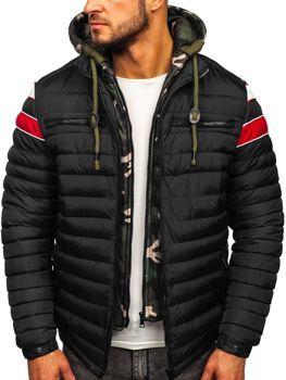 Куртка мужская зимняя спортивная стеганая черная Bolf 50A465
