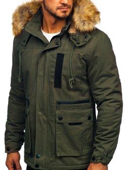 Куртка мужская зимняя хаки Bolf JK323