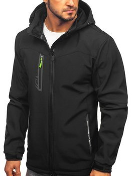 Куртка мужская софтшелл черно-желтая Bolf 12268